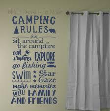 camping rules subway summertime art quotes decals stickers camping rules subway summertime art quotes wall letters decals loading zoom