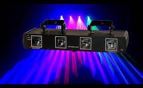 four lights new 4 lens 660mw rgbp four head beam laser scanner dmx xmas party