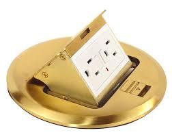 brass floor box kit 20amp duplex gfci includes adjustable height