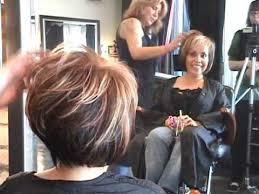 trimming hair angle cut part 2 of 2 layered angled modern bob hair cut featuring sharon