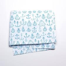 anchors blue crib skirt unison