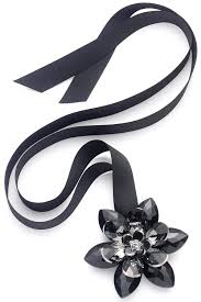 black ribbon necklace images Necklaces gt black crystal flower ribbon necklace at baronessa jpg
