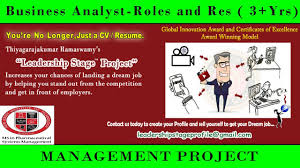 Business Analyst Roles And Responsibilities Resume Leadership Stage Project Business Analyst Roles And