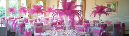 Pink Chair Sashes Sheer Elegance Wedding Chair Covers Bows Sashes Candelabras
