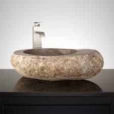 Bathroom Sink Stone Adams Dark Gray River Stone Vessel Sink Bathroom