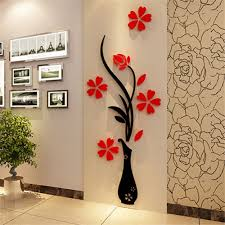 Design Wall Decals Online Online Buy Wholesale Flower Design Wall Stickers From China Flower