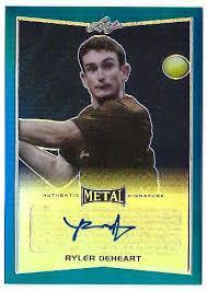 ryler deheart 2016 leaf metal tennis blue ba rdh 50 autograph