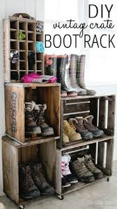 Wooden Crate Shelf Diy by Diy Bookshelf Made From Crates Wooden Crates Crates And Book