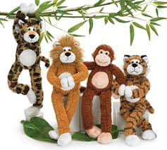 burtonandburton assortment of cuddly jungle animal vase huggers