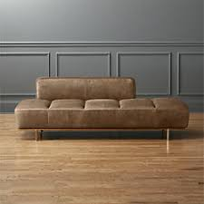low profile leather sofas cb2