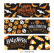 halloween bow with transparent background 3 flat halloween banners vector download