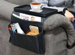 Armchair Tray New 6 Pocket Black Armchair Couch Tv Remote Caddy Arm Rest
