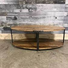 Rustic Oval Coffee Table Industrial Oval Mango Wood Coffee Table Rustic Furniture Outlet