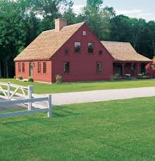 Colonial House With Farmers Porch Exterior Of Cape House With Center Chimney Ell Addition And
