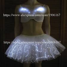 light up christmas skirt led luminous bra and skirt suit led light up growing evening