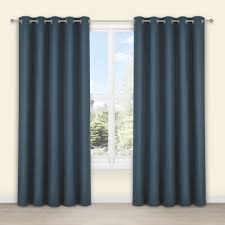 Denim Curtain Salla Denim Plain Woven Eyelet Lined Curtains W 167 Cm L 228 Cm