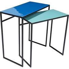 Aqua Side Table Blue Tables Set Of Two
