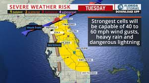 Weather Map Of Florida by A Few Severe Storms Possible Today In East Florida Florida Storms