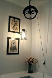 pulley system light fixtures amazing pulley light fixture inside pinteres remodel 0 metaman me