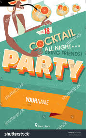 vector illustration featuring cocktail party invitation stock