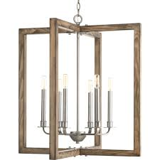 progress lighting turnbury 6 light gray galvanized chandelier