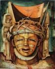 Alexis Preller, Christ Head, 1952. Oil on wood. 51 x 41 cm. - ap-christ-head-3-21