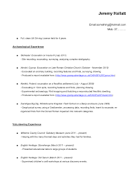 Examples Of A Resume For A Job tips for an archaeology resume cv if you just graduated or are