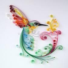 paper quilling birds tutorial original quilling art bird of happiness framed colorful paper art