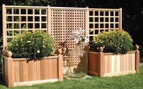trellis planter boxes large planter boxes cedar planter