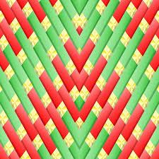 christmas pattern red green christmas geometric 3d free image on pixabay