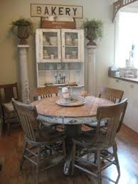 round farmhouse dining table farmhouse dining old round table chairs love the chippy pillar