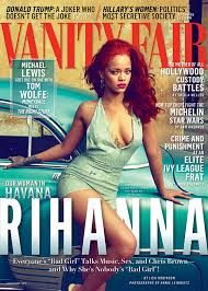 New Vanity Fair Cover Rihanna U0027s Plunging Sequin Romper On The Cover Of U0027vanity Fair