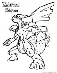 Coloriage Pokémon Zekrom stylisé dessin gratuit à imprimer