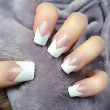 french manicure on short square nails u2013 great photo blog about