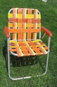Outdoor Furniture Webbing by Mid Century Orange And Blue Plaid Webbing Aluminum Kid U0027s Size