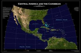 Central America And The Caribbean Map by Wall Map Closet