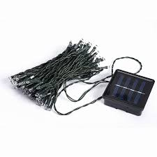 Solar Outdoor Christmas Tree Lights by Outdoor Solar Panel Powered Light 10m 50 Led Automatic Garden