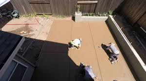 stamped concrete patio start to finish youtube