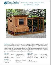 amazon com backyard chicken coop plans with kennel run gable
