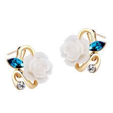 size 7 13 2015 new 18k plated classic gold men rings black 18k gold plated flower earring ace gems