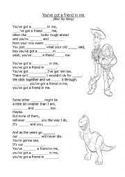 english worksheet you ve got a friend in me toy story