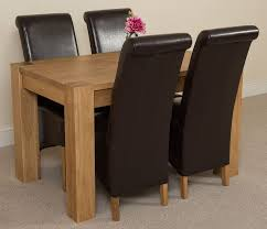Leather Chairs For Kitchen Table Solid Oak Dining Table And 6 Chairs