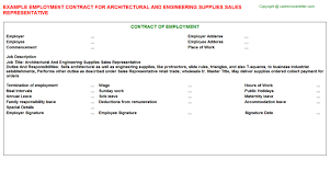 architectural and engineering supplies sales representative