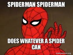 spiderman spiderman does whatever a spider can spiderman care