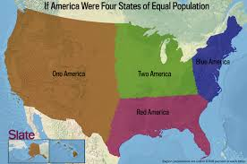 United States Map By Region by If Every U S State Had The Same Population What Would The Map Of
