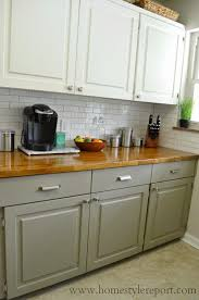 kitchen cabinet colors with butcher block countertops home style report kitchen reveal kitchen cabinets