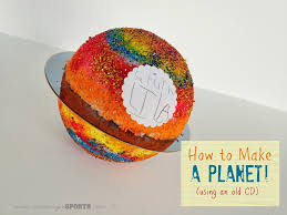 teaching tuesday how to make a planet with an old cd craft