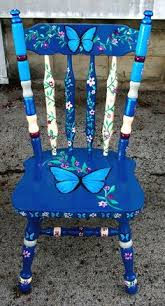 painted chairs images brightly painted furniture my happy chair makeover http