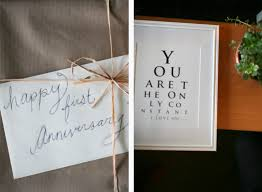 1 year anniversary gift 1 year of marriage anniversary