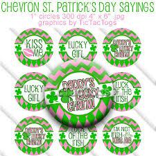 chevron st patrick u0027s day sayings bottle cap images digital